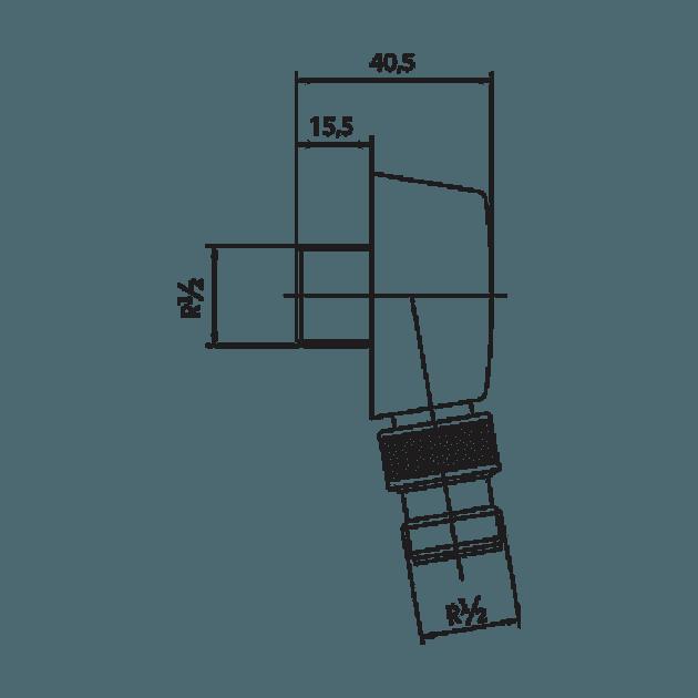 Цилиндрично коляно за вграждане, Minimal 102126634