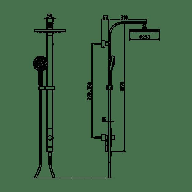 Душ система – серия CARO