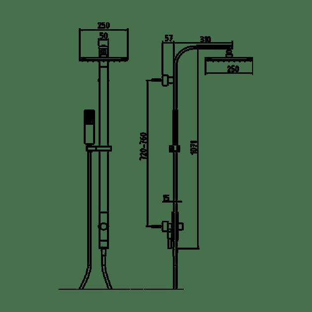 Душ система – серия ELEA