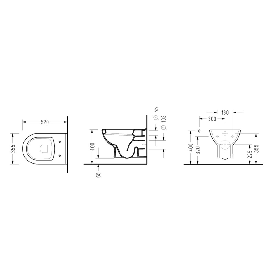 Конзолна WC-чиния FRIENDLY 6710 GTL