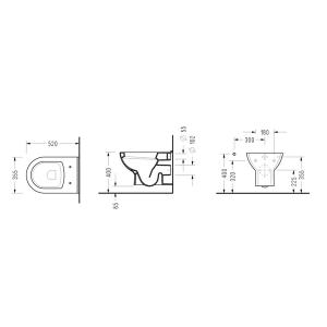 Конзолна WC-чиния FRIENDLY 6710 Soft Close