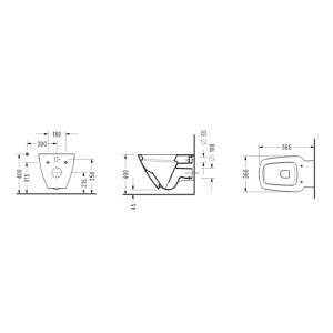 Конзолна WC-чиния RENATA