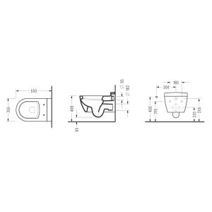 Конзолна WC-чиния SAPHIRE