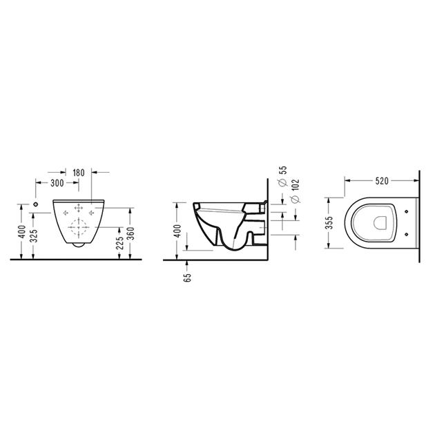 Конзолна WC-чиния SMART SM10 GTL