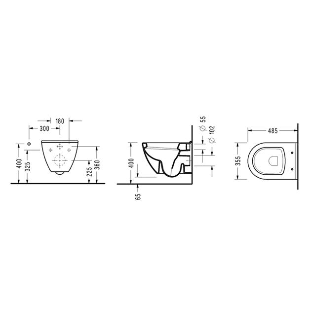 Конзолна WC-чиния SMART SM12 Soft Close