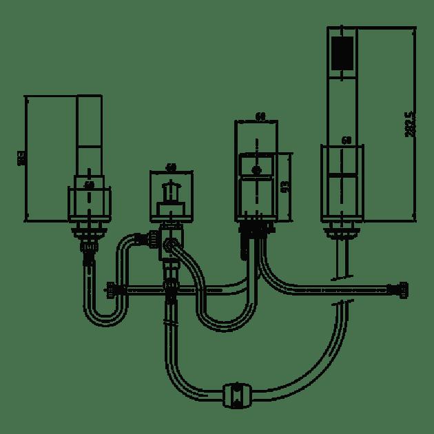 Смесител за борд на вана (каскада) – ELIDIS