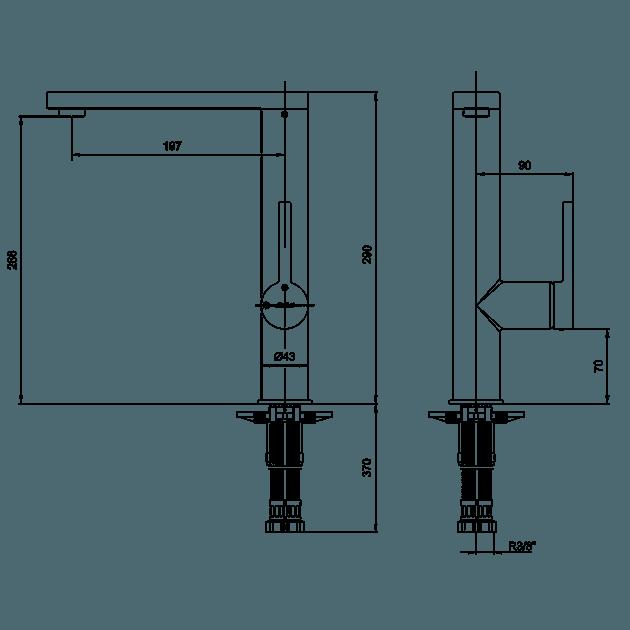 Смесител за кухненска мивка – серия MINA