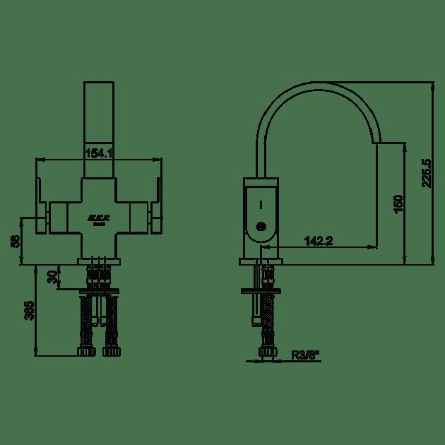 Смесител за умивалник – серия ELIDIS