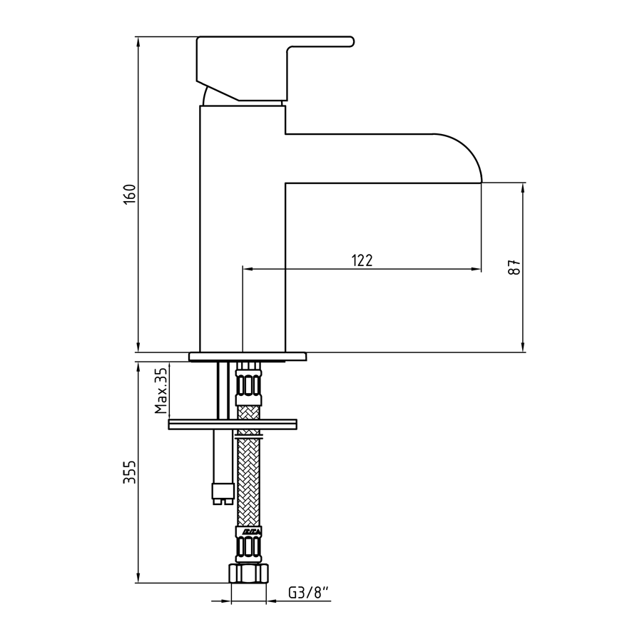 Смесител за умивалник – серия NATURA