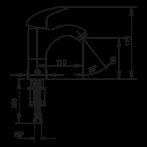 Смесител за умивалник, висок – серия MIX-P