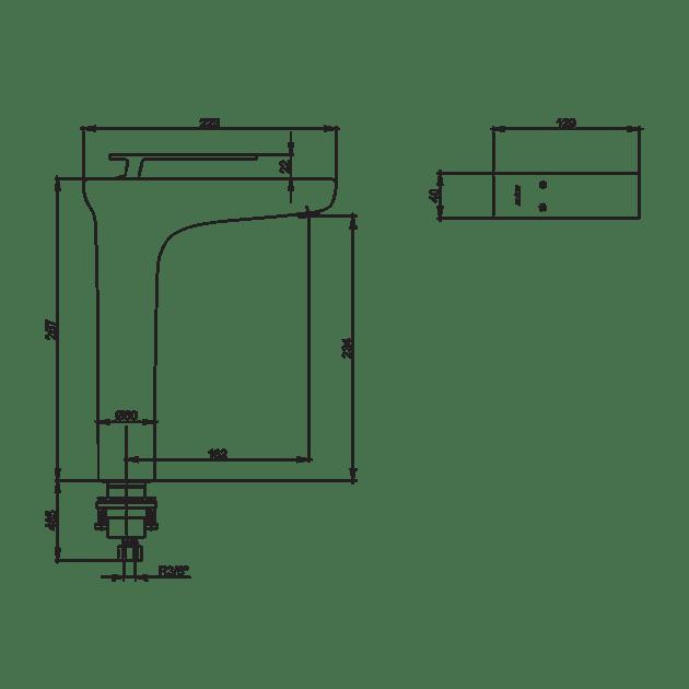 Смесител за умивалник, висок – серия NEVA