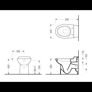 Стояща WC-чиния PETUNYA - актуална цена, описание, онлайн поръчка. Поръчай Стояща WC-чиния PETUNYA онлайн, плати про доставка. 590