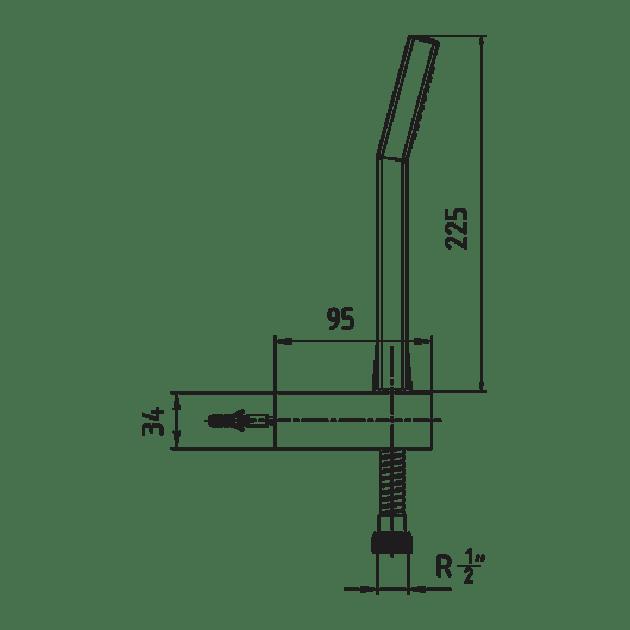 Подвижен душ, две окачалки – серия ELEA