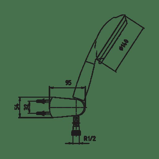 Подвижен душ, комплект – серия ARDA