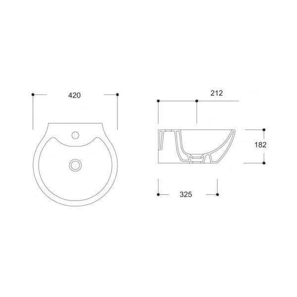 Умивалник за монтаж върху плот или мебел, модел KUTAHYA 90542 - актуална цена, описание, онлайн поръчка. Поръчай Умивалник за монтаж върху плот или мебел, модел KUTAHYA 90542 онлайн, плати про доставка. 1475