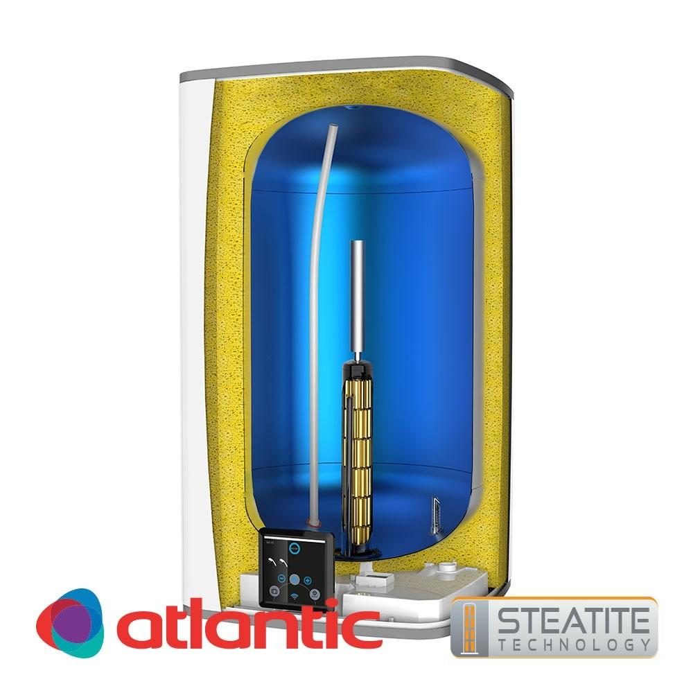 Електрически обемен бойлер Steatite CUBE Silver