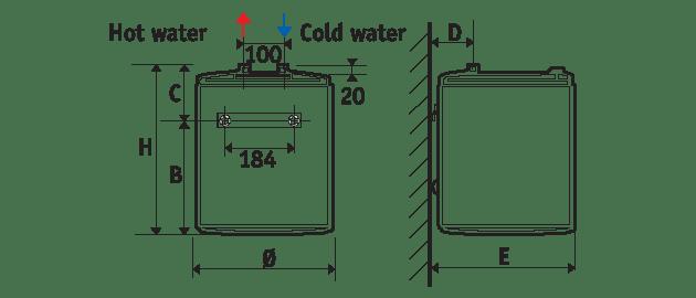 Малолитражен бойлер 10 литра, Atlantic O´Pro, под мивка