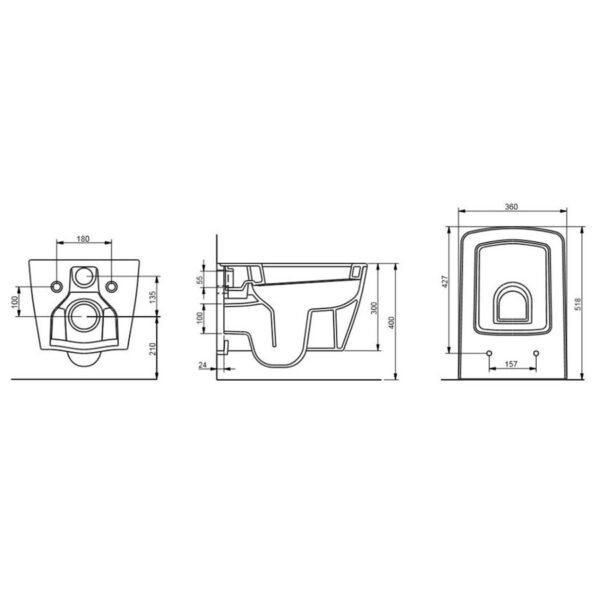 Квадратна, конзолна, тоалетна чиния ALBA - актуална цена, описание, онлайн поръчка. Поръчай Квадратна, конзолна, тоалетна чиния ALBA онлайн, плати про доставка. 1862