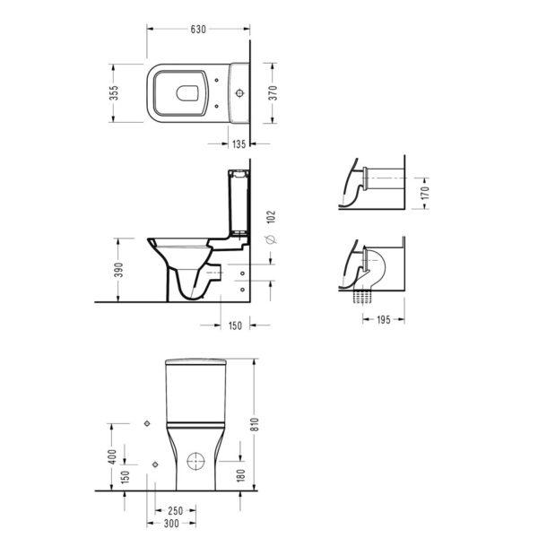 Моноблок NITA BTW COMPACT (NT12 GTL) с вградено биде и бавнопадащ капак, плътен монтаж до стена - актуална цена, описание, онлайн поръчка. Поръчай Моноблок NITA BTW COMPACT (NT12 GTL) с вградено биде и бавнопадащ капак, плътен монтаж до стена онлайн, плати про доставка. 1854