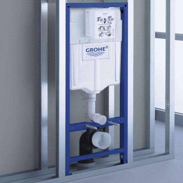 Промоционален комплект 4 в 1 GROHE SOLIDO+SMART SLIM Soft - структура за вграждане, крепежи, бутон и конзолна тоалетна чиния - актуална цена, описание, онлайн поръчка. Поръчай Промоционален комплект 4 в 1 GROHE SOLIDO+SMART SLIM Soft - структура за вграждане, крепежи, бутон и конзолна тоалетна чиния онлайн, плати про доставка. 1970