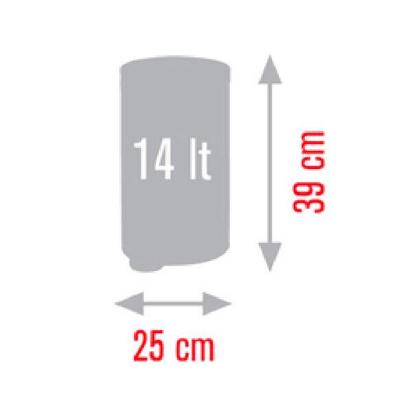 Кошче за тоалетна Meliconi OPERA, 14 литра, бяло-черно - актуална цена, описание, онлайн поръчка. Поръчай Кошче за тоалетна Meliconi OPERA, 14 литра, бяло-черно онлайн, плати про доставка. 2092