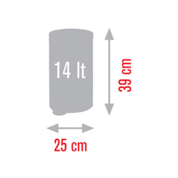 Кошче за тоалетна Meliconi BRUSHED STEEL 14 литра - актуална цена, описание, онлайн поръчка. Поръчай Кошче за тоалетна Meliconi BRUSHED STEEL 14 литра онлайн, плати про доставка. 2164