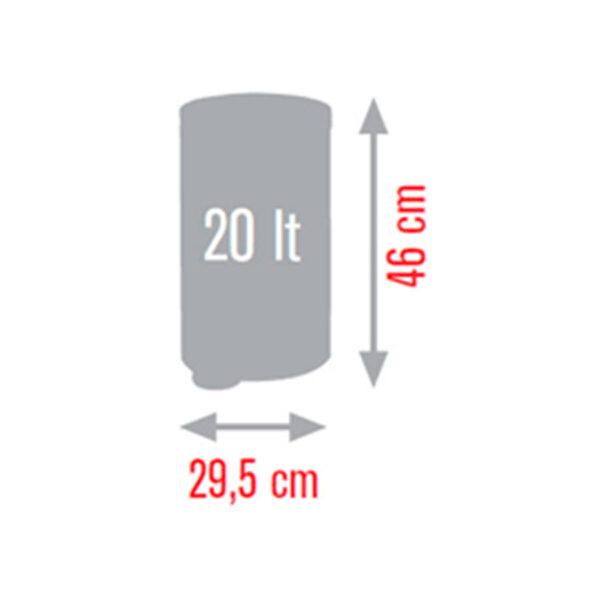 Кошче за тоалетна Meliconi BRUSHED STEEL 20 литра - актуална цена, описание, онлайн поръчка. Поръчай Кошче за тоалетна Meliconi BRUSHED STEEL 20 литра онлайн, плати про доставка. 2105