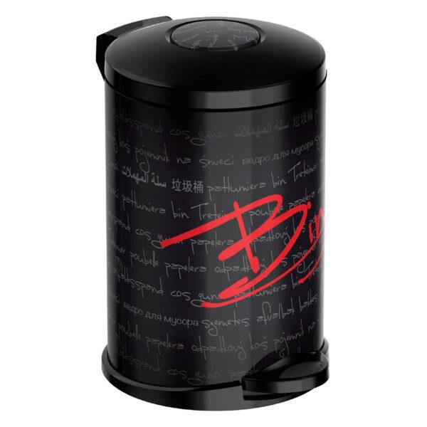 Кошче за тоалетна Meliconi OPERA Typo, 5 литра, черно-червено - актуална цена, описание, онлайн поръчка. Поръчай Кошче за тоалетна Meliconi OPERA Typo, 5 литра, черно-червено онлайн, плати про доставка. 2132