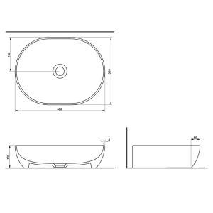 Умивалник за монтаж върху плот ALTO (50x38x12.5 см) комплект с керамичен клик сифон - актуална цена, описание, онлайн поръчка. Поръчай Умивалник за монтаж върху плот ALTO (50x38x12.5 см) комплект с керамичен клик сифон онлайн, плати про доставка. 3223